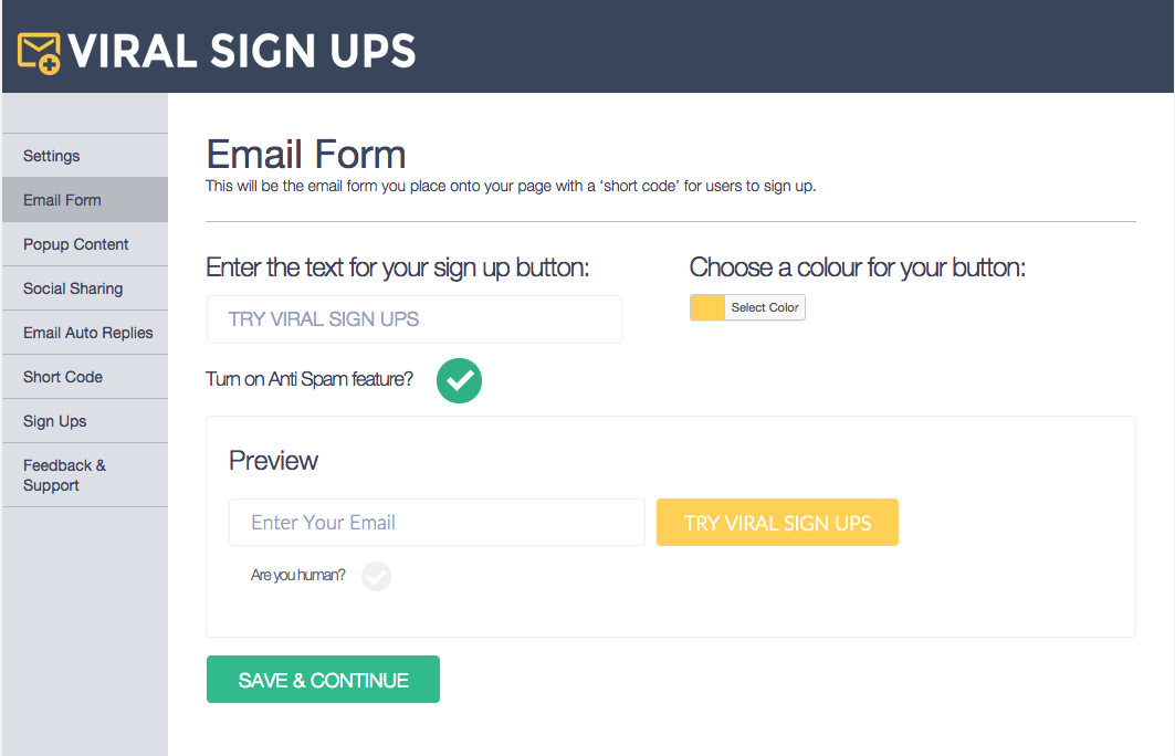 viral-sign-ups screenshot 1
