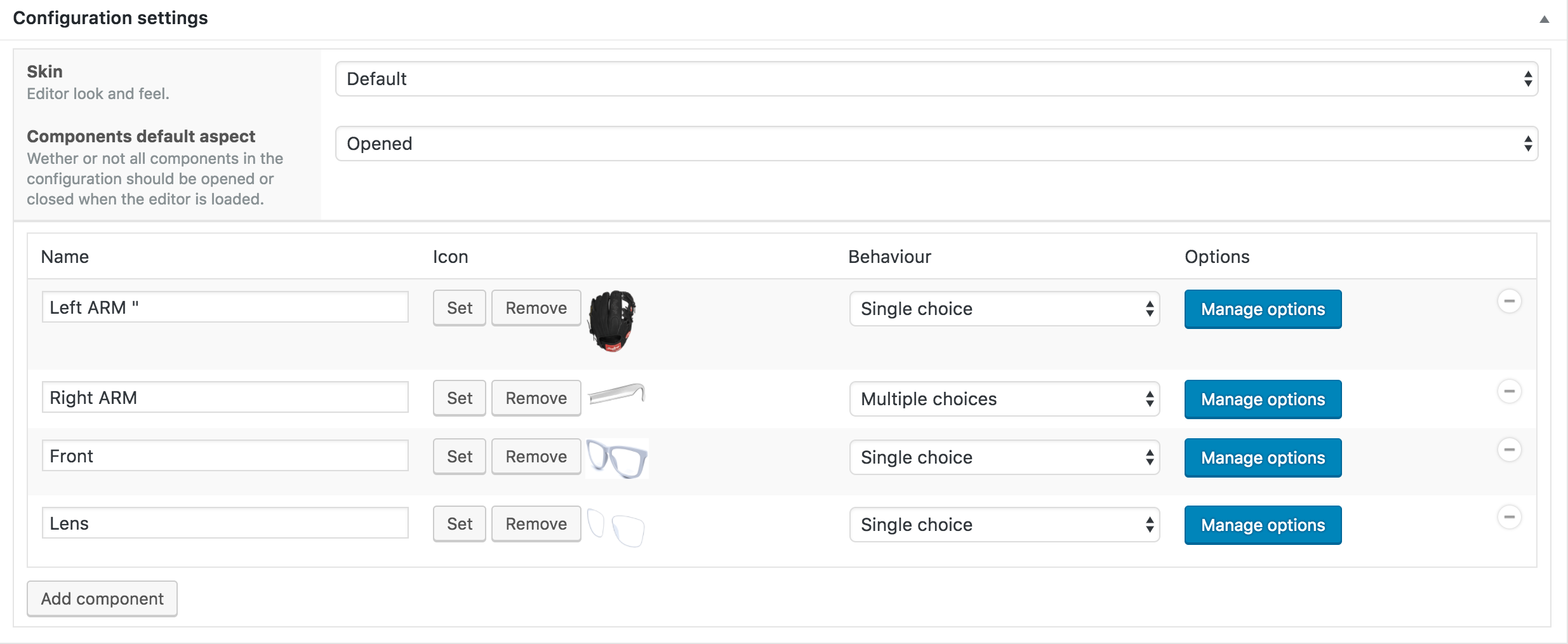 visual-products-configurator-for-woocommerce screenshot 1