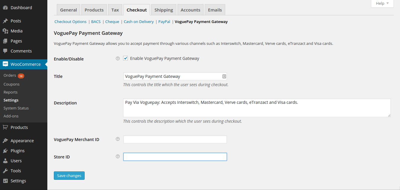 voguepay-woocommerce-payment-gateway screenshot 2