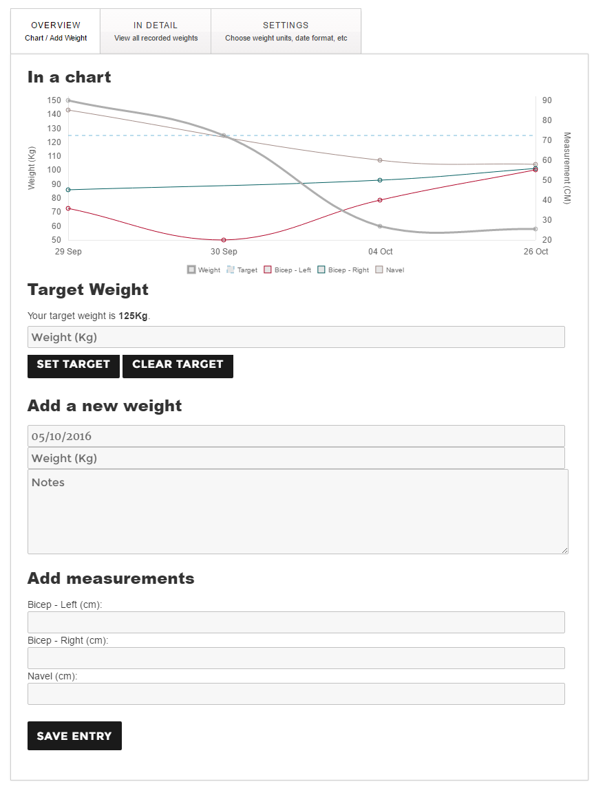 weight-loss-tracker screenshot 2