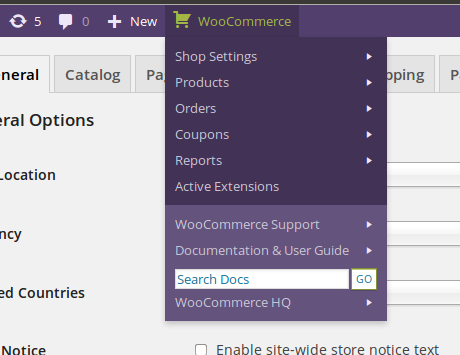 woocommerce-admin-bar-addition screenshot 1