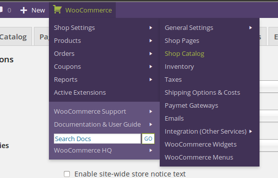 woocommerce-admin-bar-addition screenshot 2