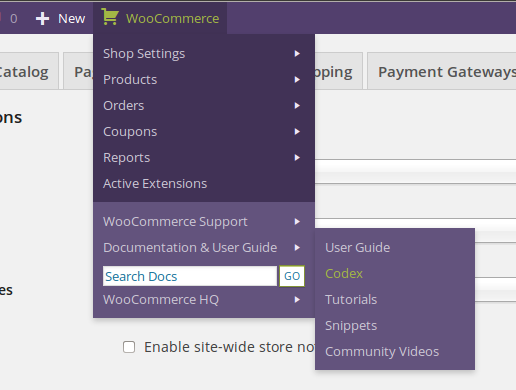 woocommerce-admin-bar-addition screenshot 3