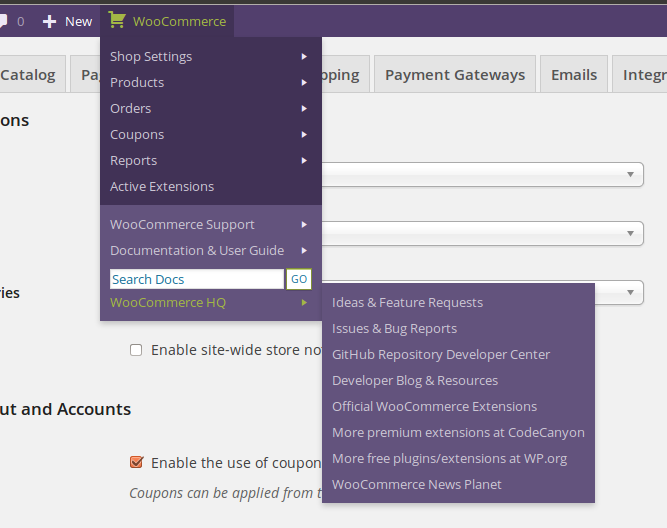 woocommerce-admin-bar-addition screenshot 4