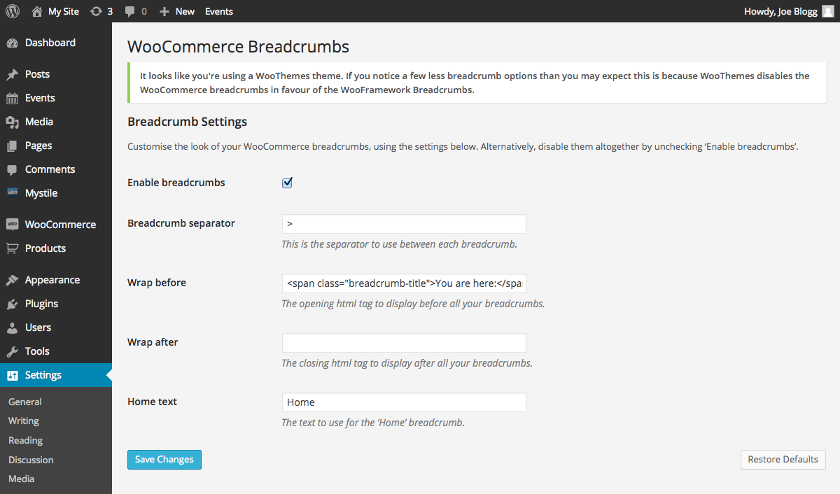 woocommerce-breadcrumbs screenshot 3