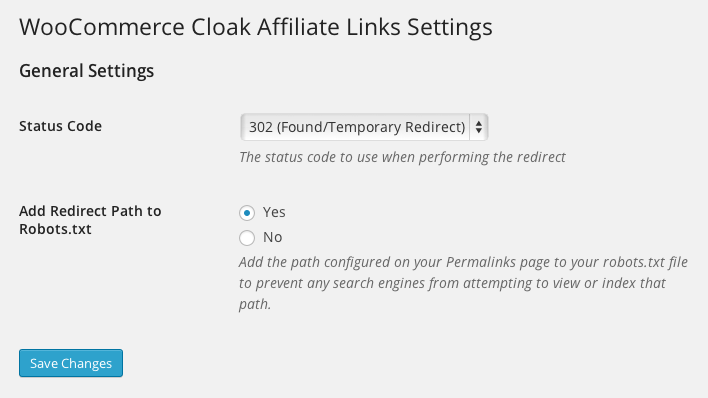 woocommerce-cloak-affiliate-links screenshot 1