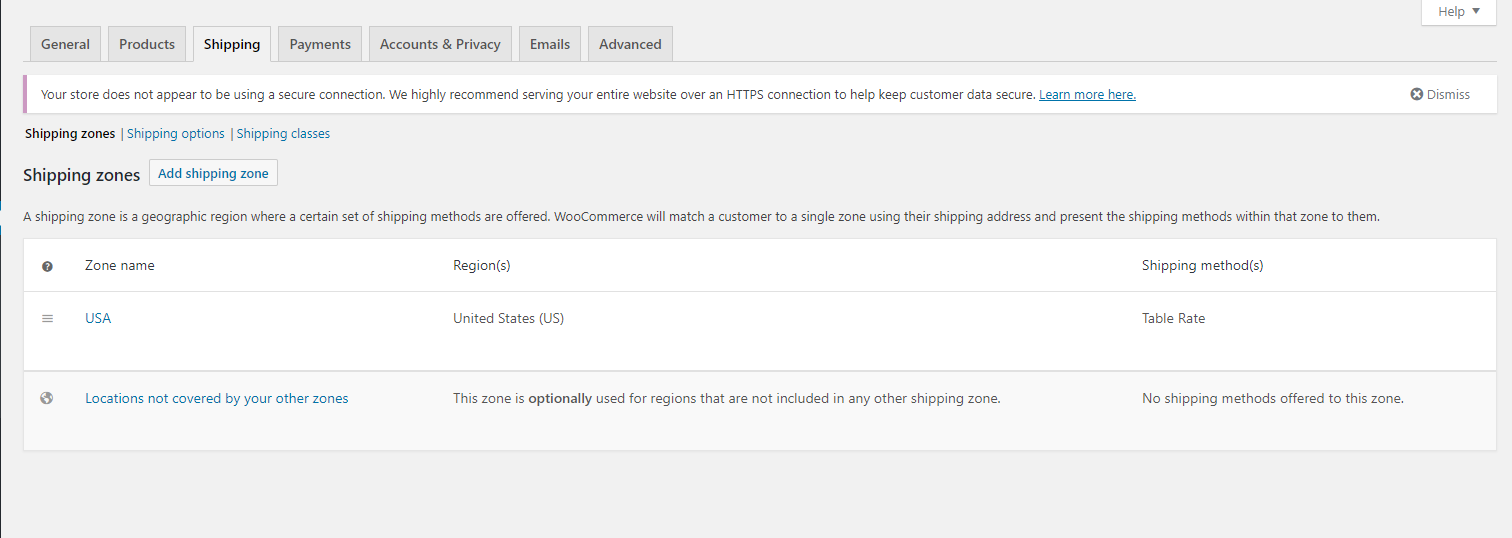 woocommerce-easy-table-rate-shipping screenshot 1