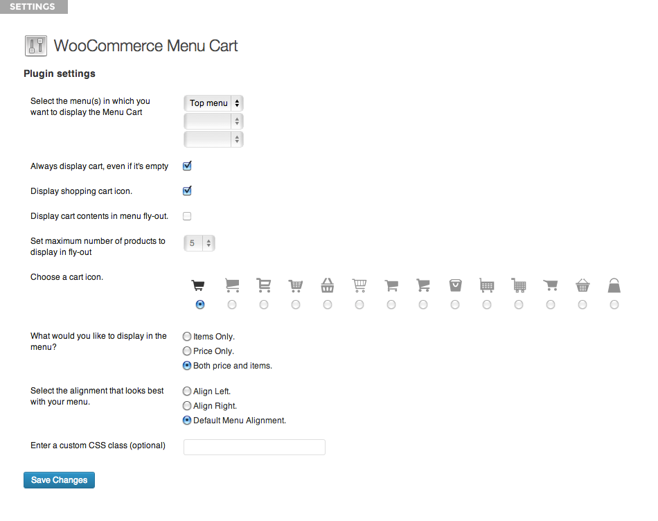 woocommerce-menu-bar-cart screenshot 3