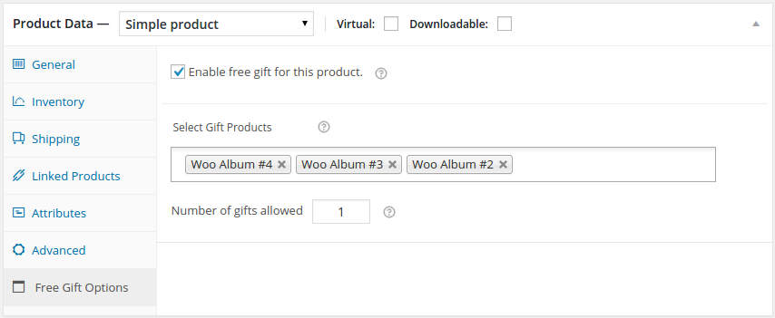 woocommerce-multiple-free-gift screenshot 3