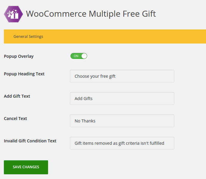 woocommerce-multiple-free-gift screenshot 4