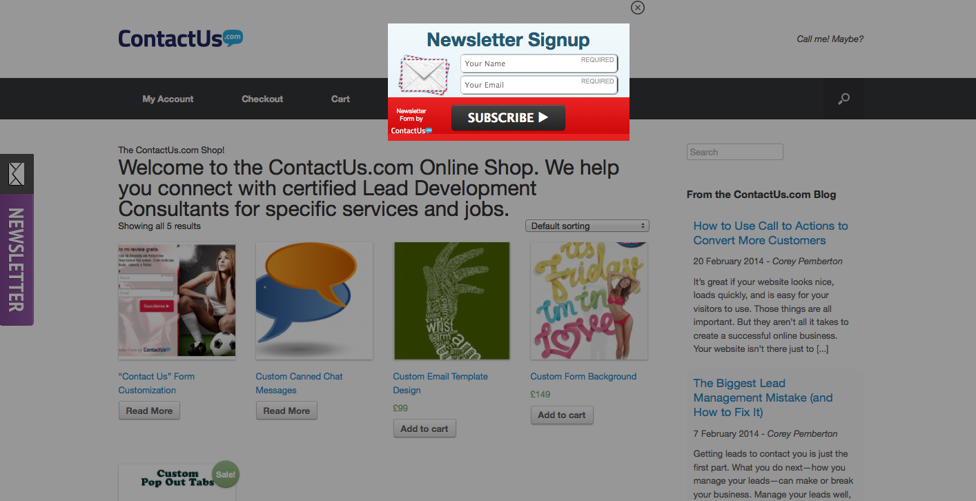 woocommerce-newsletter-signup screenshot 4