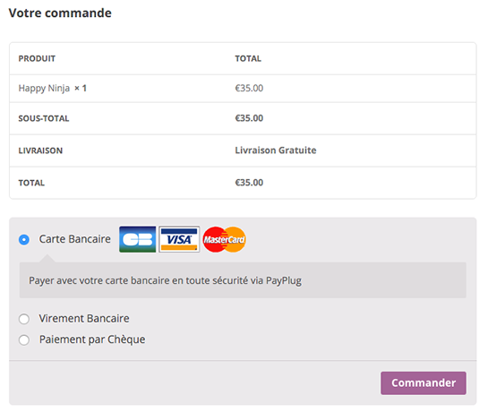 woocommerce-payplug screenshot 2