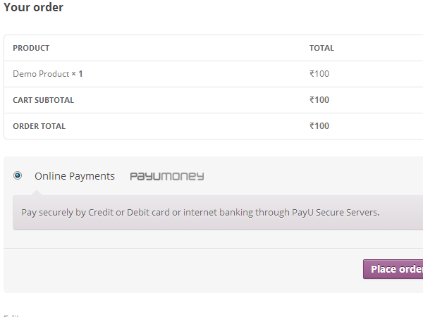 woocommerce-payu-paisa screenshot 2