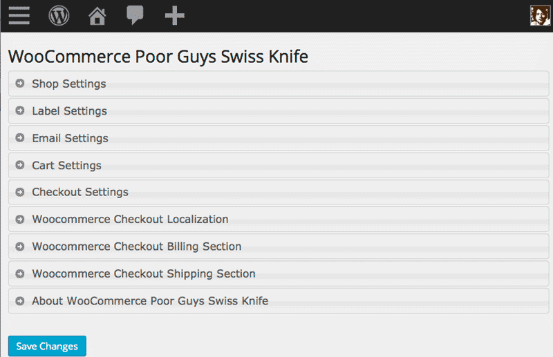 woocommerce-poor-guys-swiss-knife screenshot 1