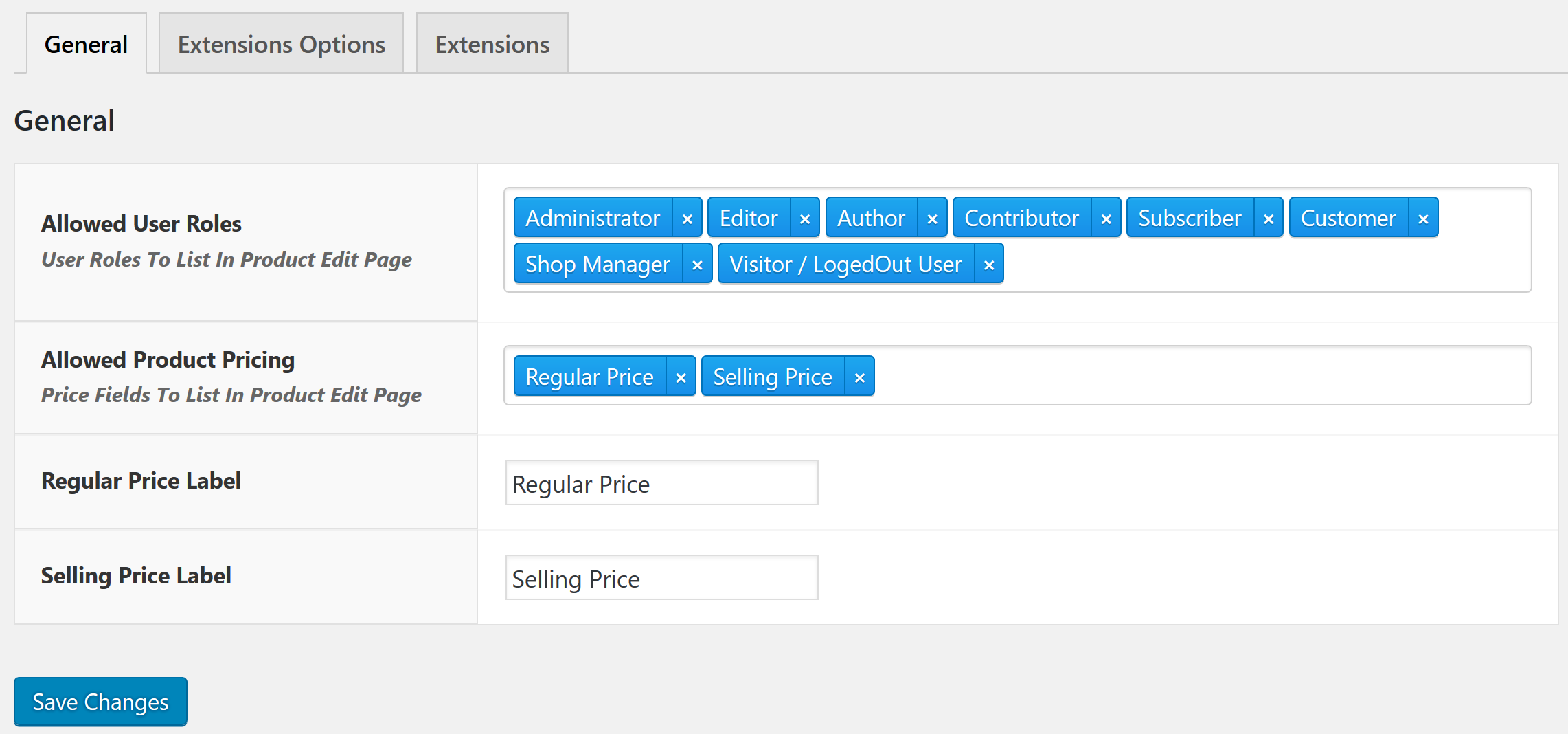 woocommerce-role-based-price screenshot 3