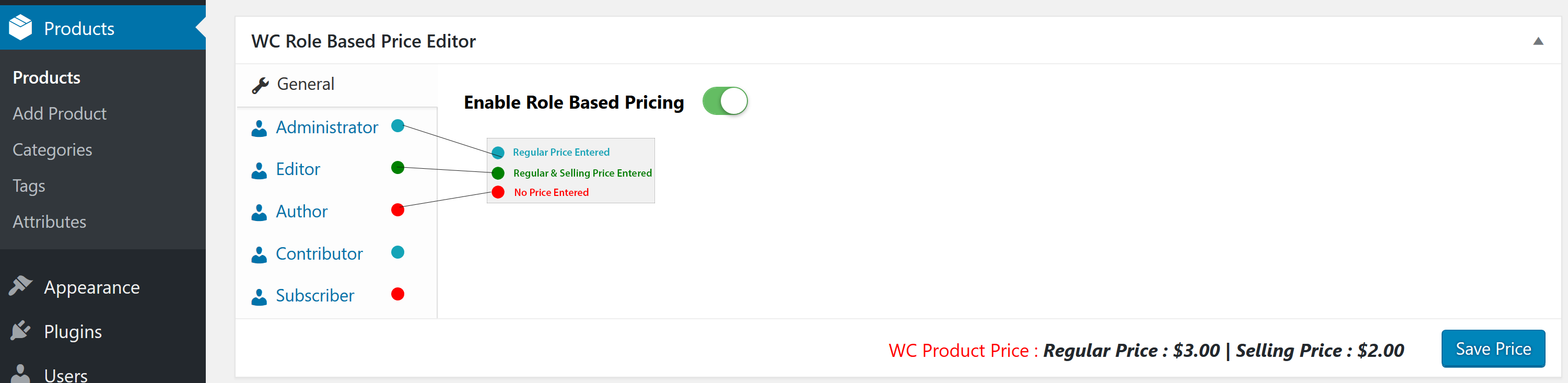 woocommerce-role-based-price screenshot 6
