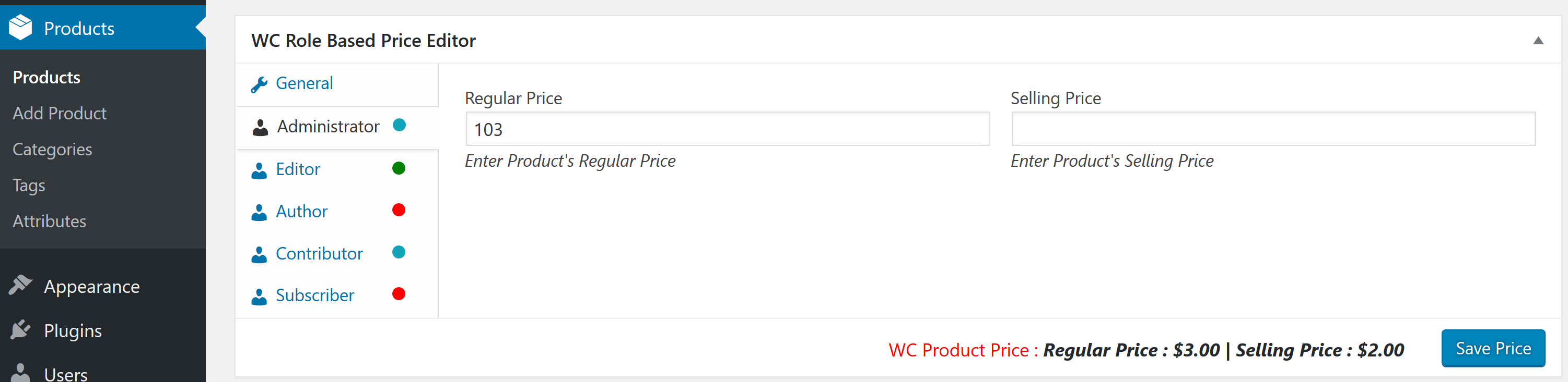 woocommerce-role-based-price screenshot 7