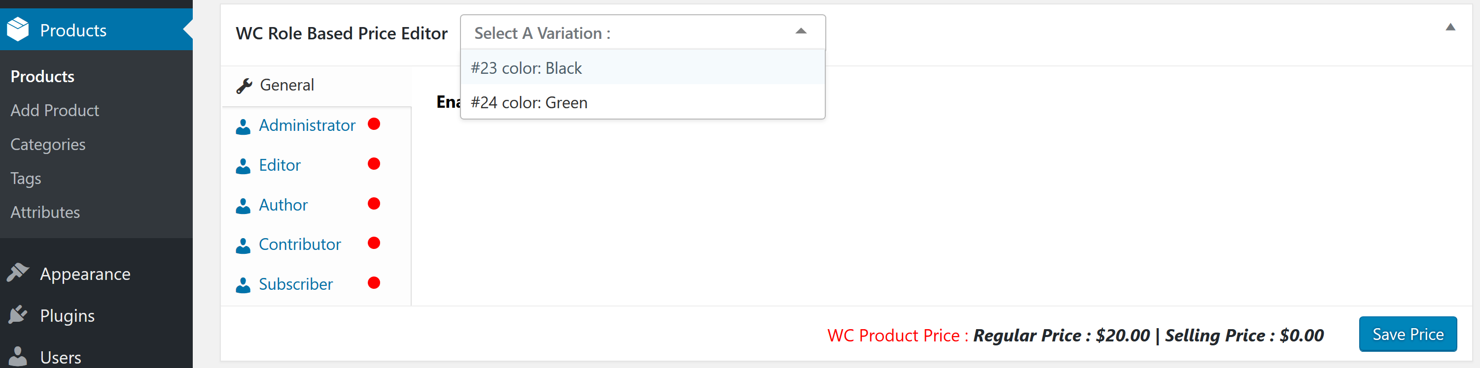 woocommerce-role-based-price screenshot 8