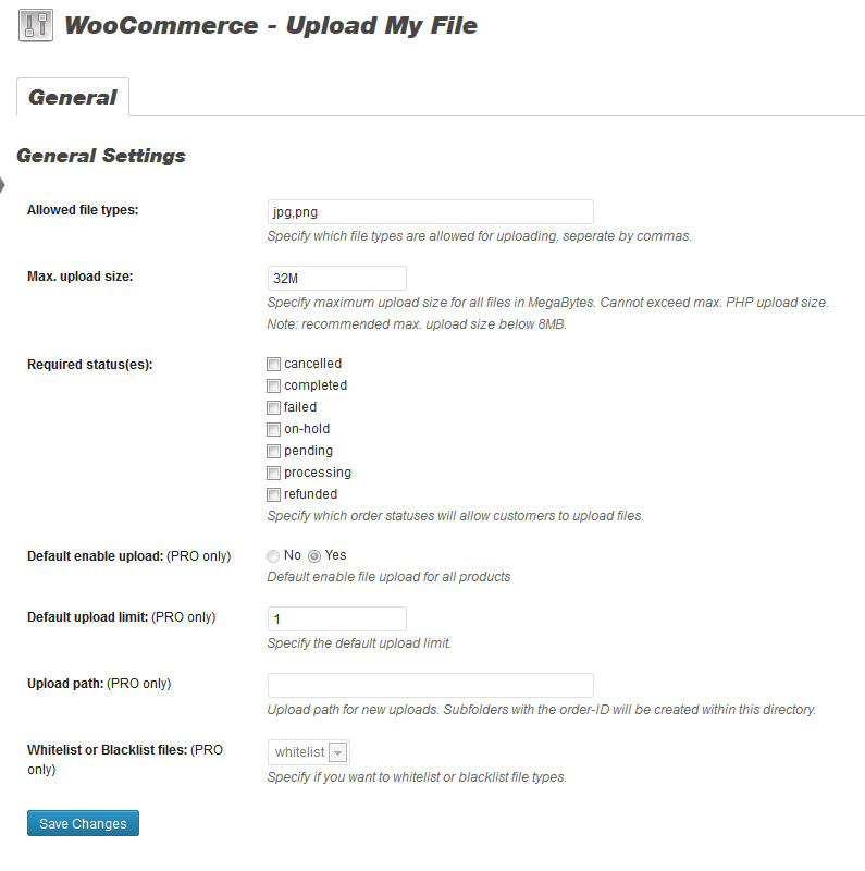woocommerce-upload-my-file screenshot 1