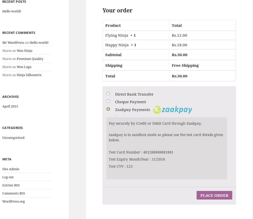 woocommerce-zaakpay-payment-gateway screenshot 2
