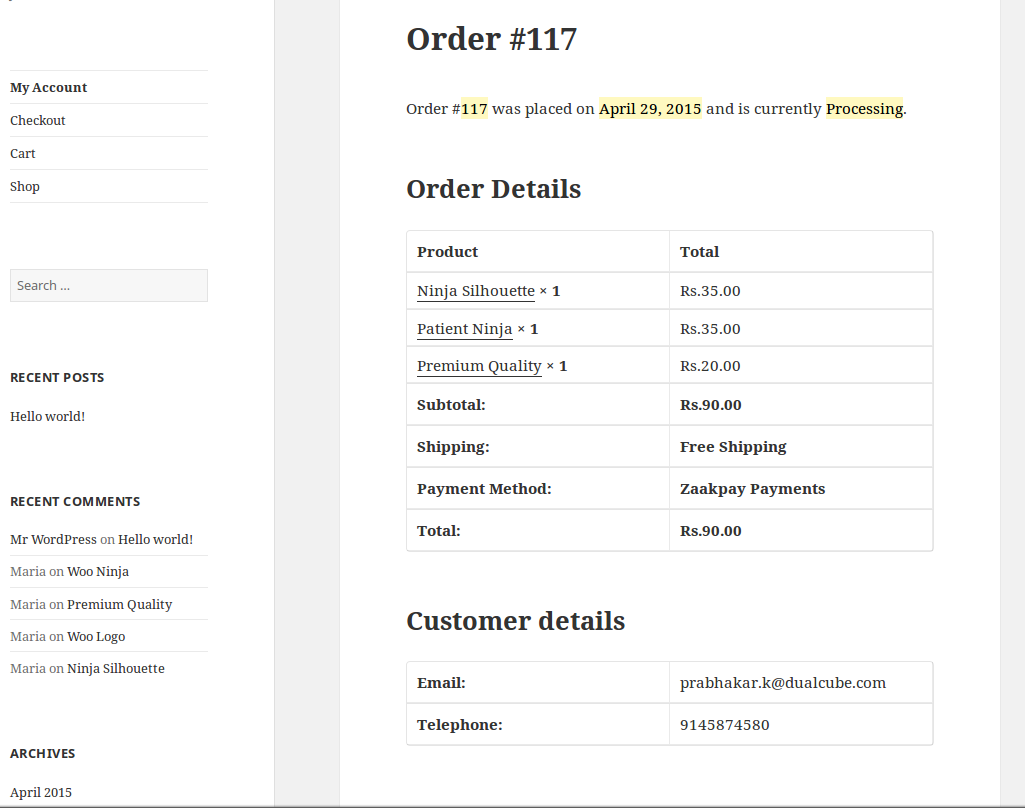 woocommerce-zaakpay-payment-gateway screenshot 3