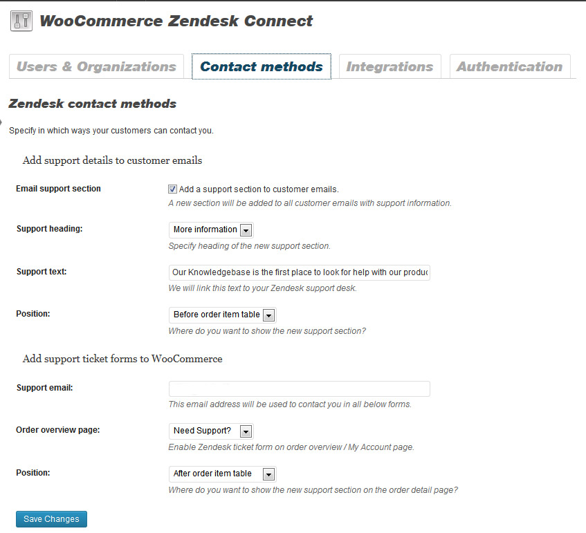 woocommerce-zendesk-connect screenshot 2