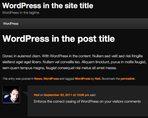 wordpress-camelcase-zealot screenshot 1