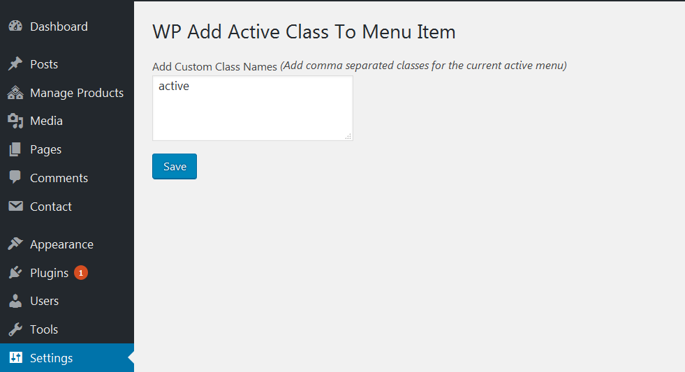 wp-add-active-class-to-menu-item screenshot 2