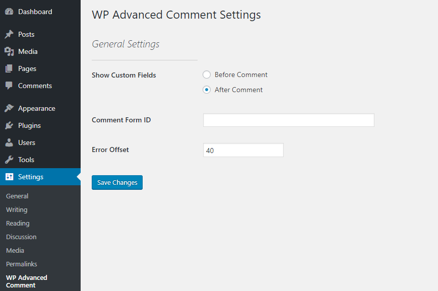 wp-advance-comment screenshot 4