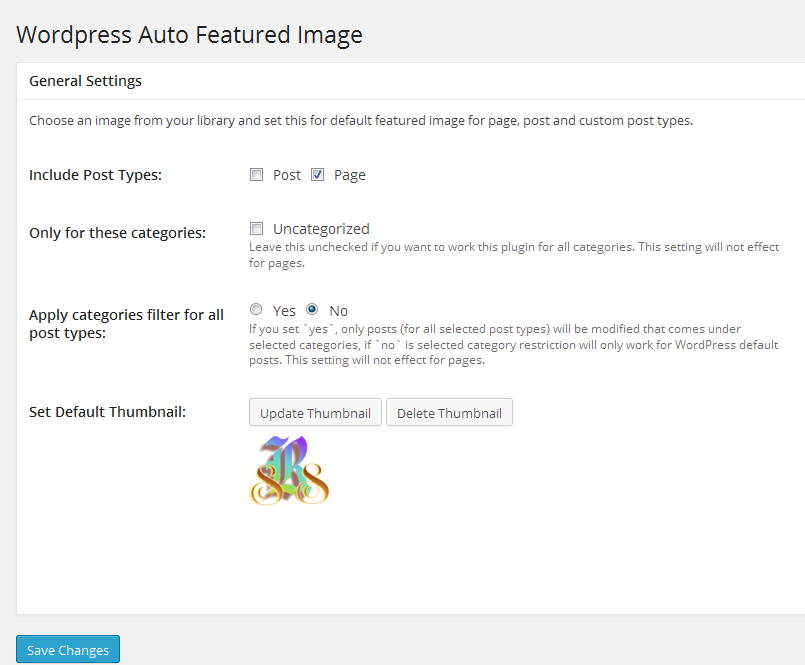 wp-auto-featured-image screenshot 1