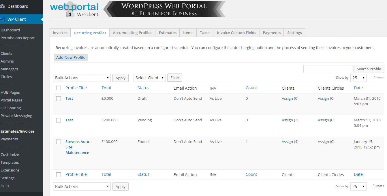 wp-client-lite-invoicing-estimates-billing screenshot 1