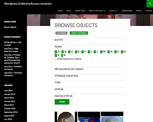 wp-collectiveaccess screenshot 3