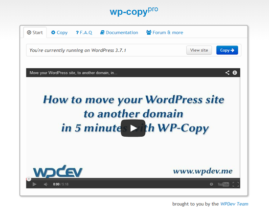 wp-copy-free screenshot 1