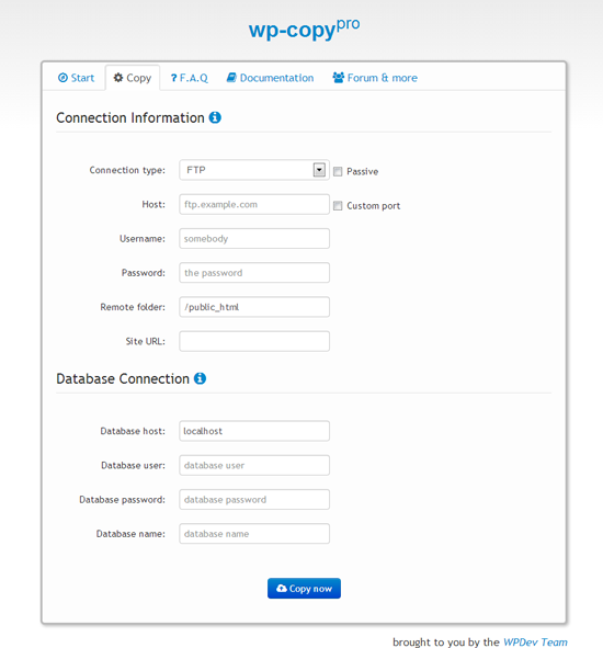 wp-copy-free screenshot 2