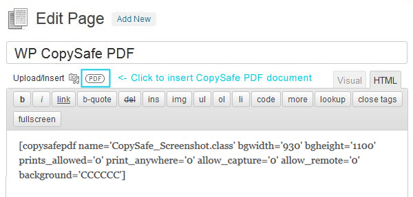 wp-copysafe-pdf screenshot 1