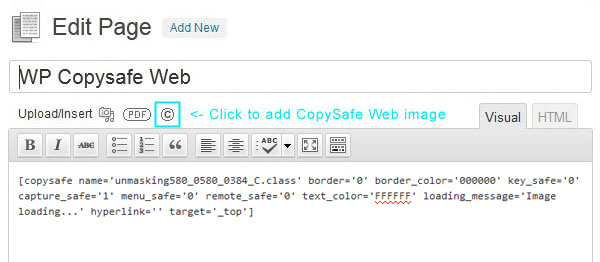 wp-copysafe-web screenshot 1