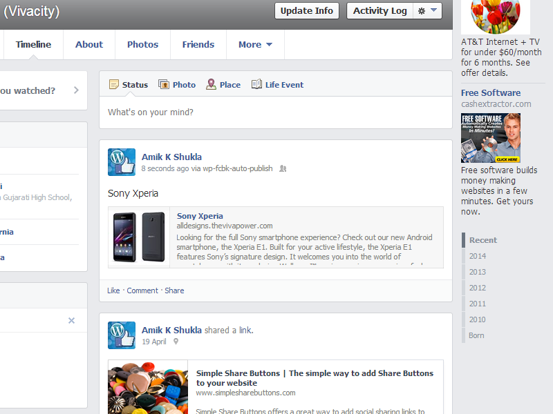 wp-facebook-auto-publish screenshot 3