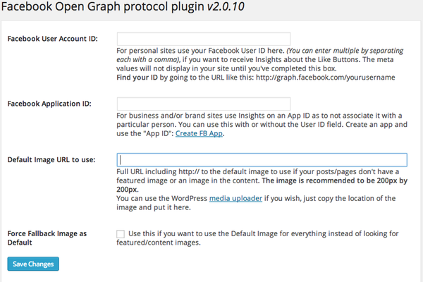 wp-facebook-open-graph-protocol screenshot 1