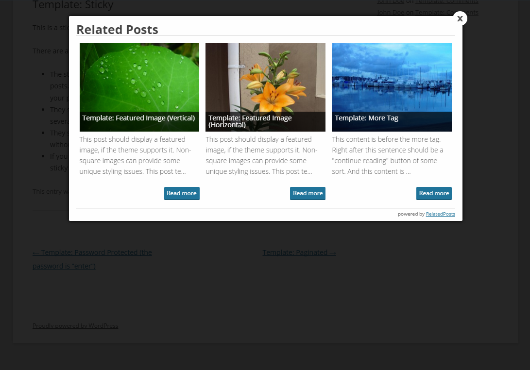 wp-float-related-posts screenshot 2