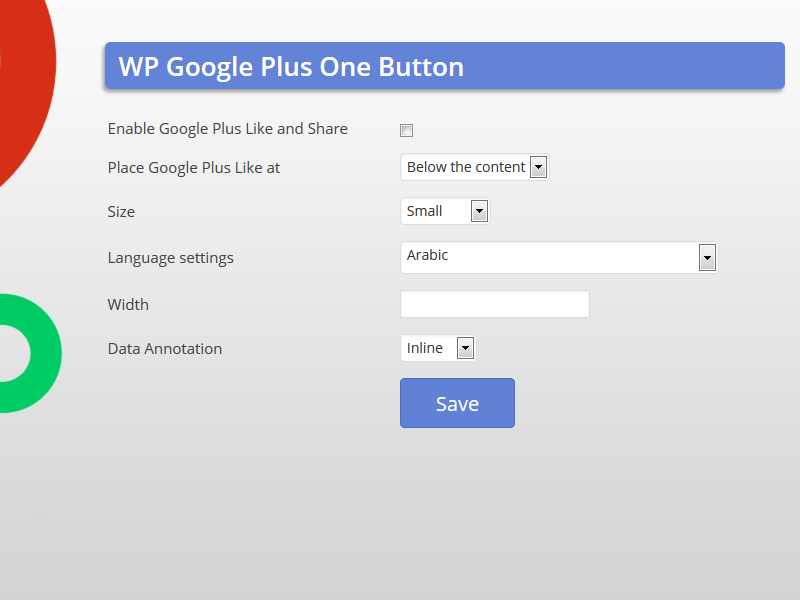 wp-google-plus-one-button screenshot 2