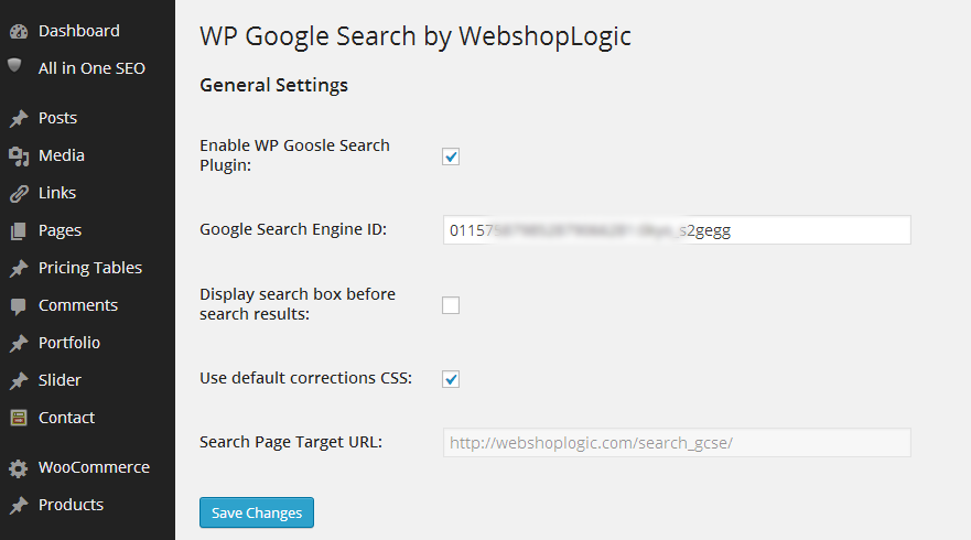 wp-google-search screenshot 3
