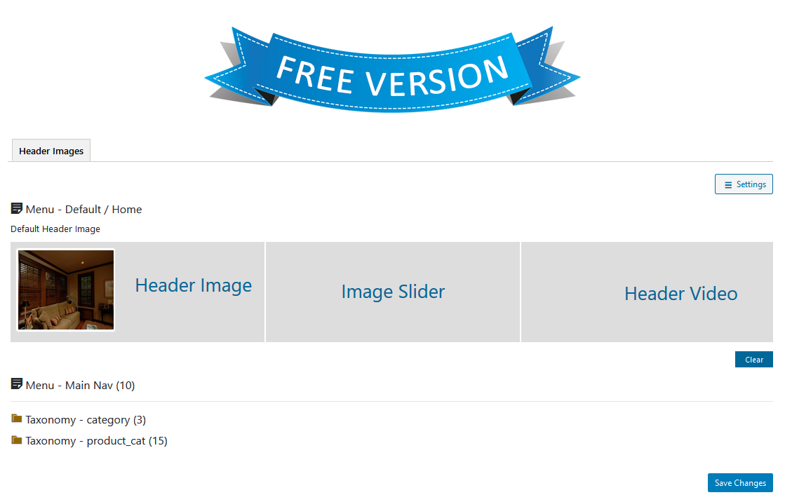 wp-header-images screenshot 2