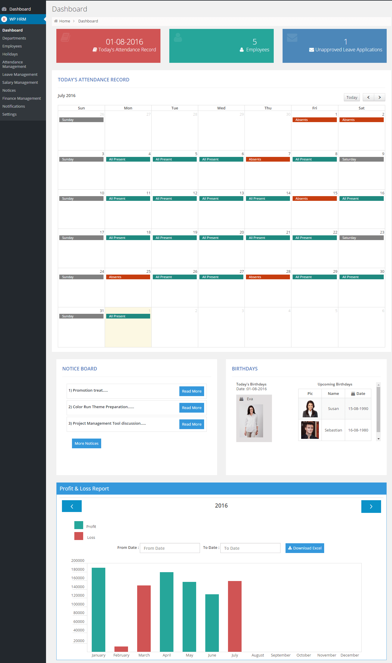 wp-hrm-lite-human-resource-management-system screenshot 1