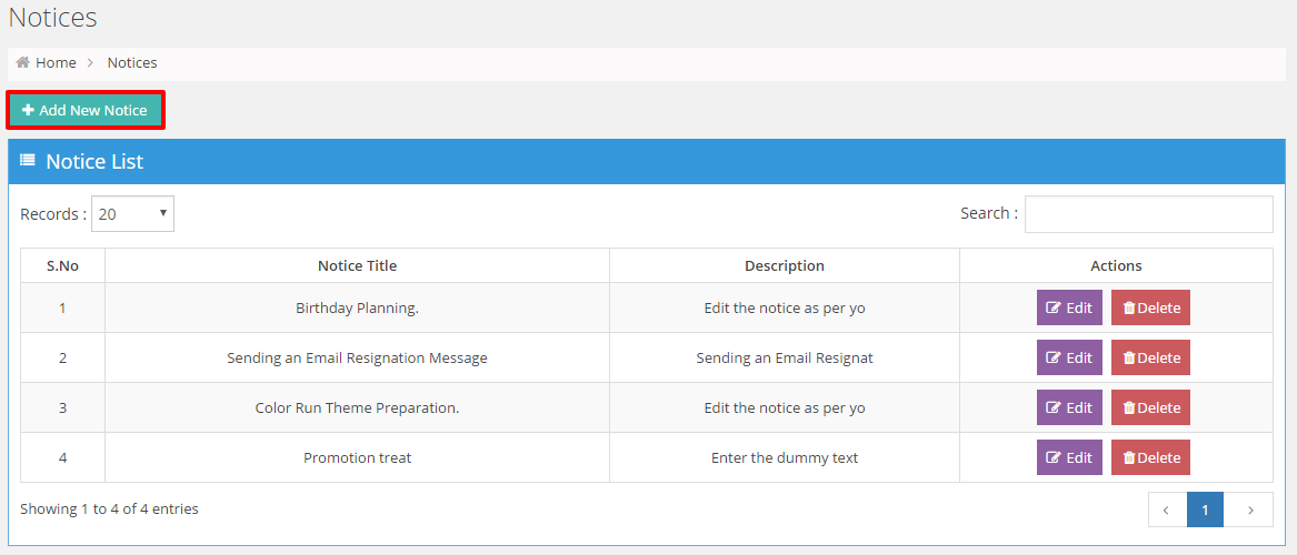 wp-hrm-lite-human-resource-management-system screenshot 6