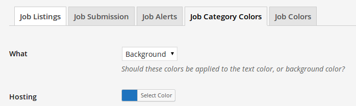 wp-job-manager-category-colors screenshot 2