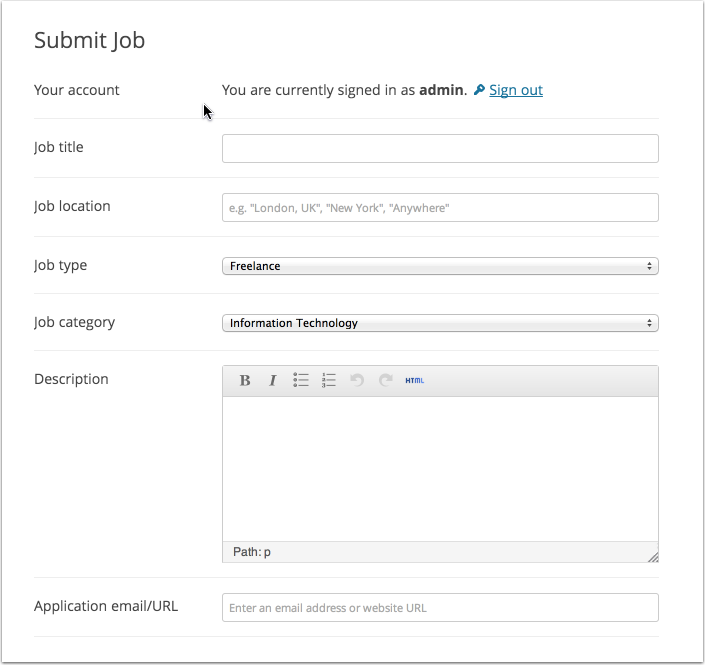 wp-job-manager screenshot 1