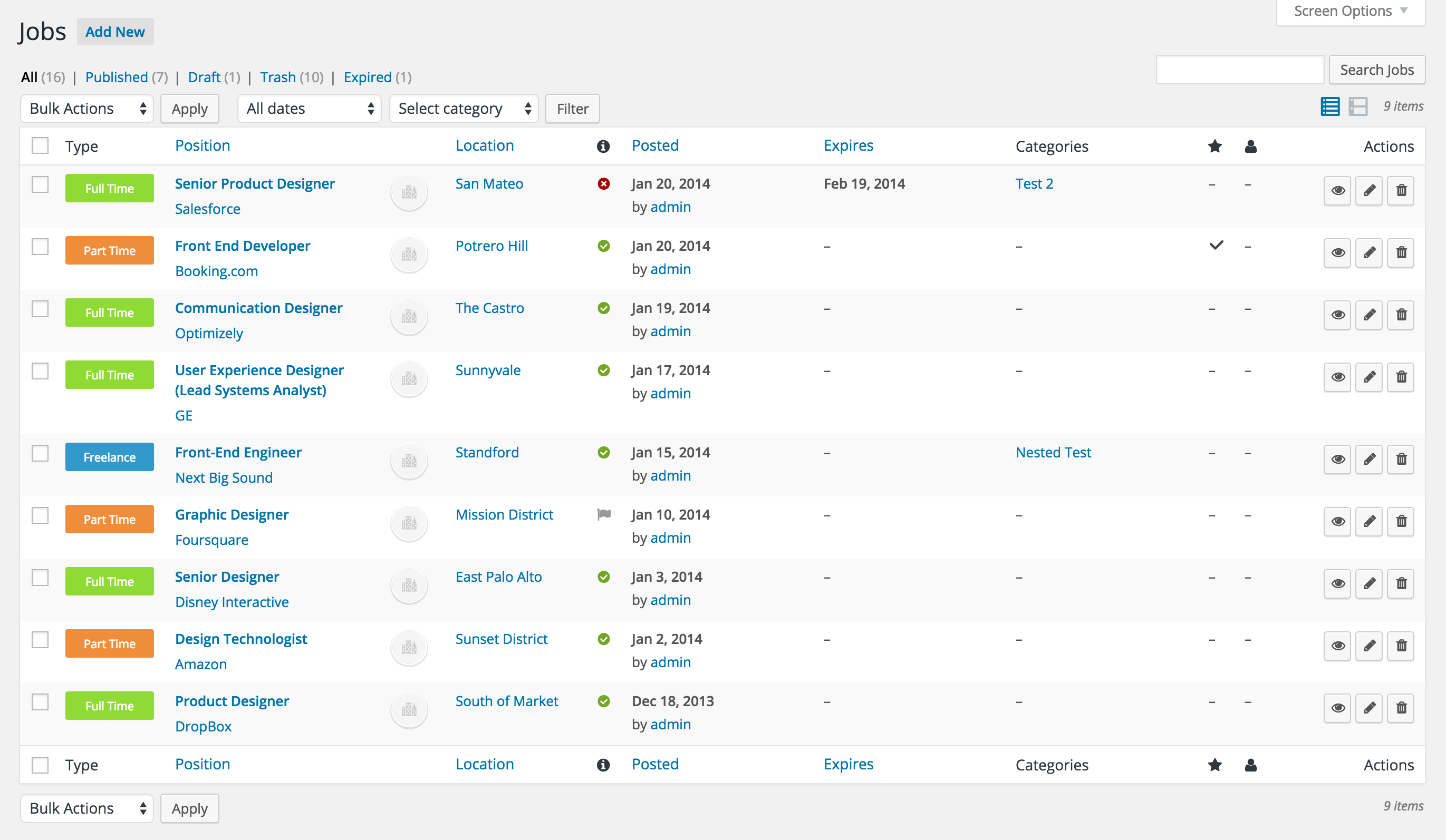 wp-job-manager screenshot 6