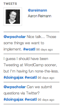 wp-jtweets screenshot 2