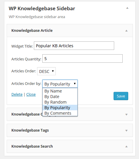 wp-knowledgebase screenshot 4