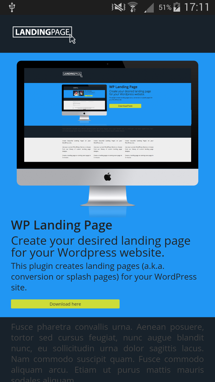 wp-landing-page screenshot 1